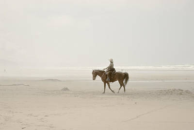 Art Print featuring the photograph Riding On The Beach by Craig Perry-Ollila
