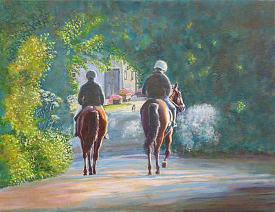 Riding Out Kilcolgan, Co Galway Art Print by Tomas OMaoldomhnaigh