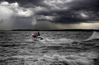 Percy Priest Lake Photograph - Riding Out The Storm by Steven Michael