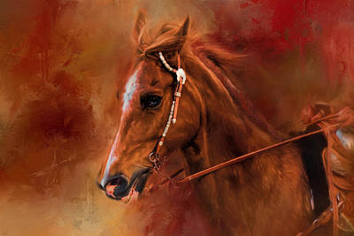 Painting - Riding The Autumn Breeze Horse Art by Jai Johnson
