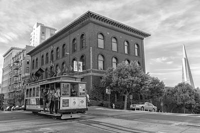 Photograph - Riding The Cable Car by Jonathan Nguyen