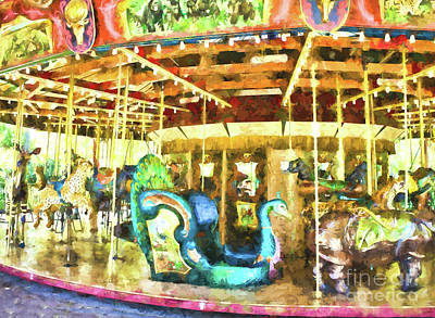Photograph - Riding The Carousal by Steven Parker