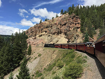 Photograph - Riding The Cumbres And Toltec by Debra Martz