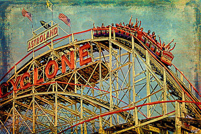 Riding The Cyclone Art Print