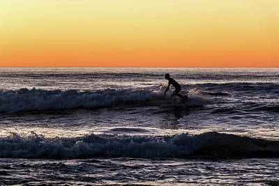 Photograph - Riding the Last Waves by Dallas Golden