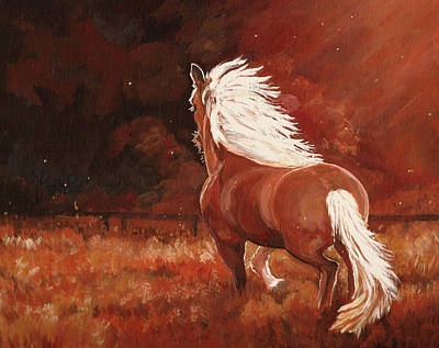 Arkansas Painting - Riding The Night Wind by Marla Hoover
