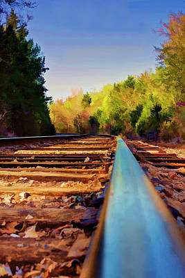 Photograph - Riding The Rail by Ricky Barnard