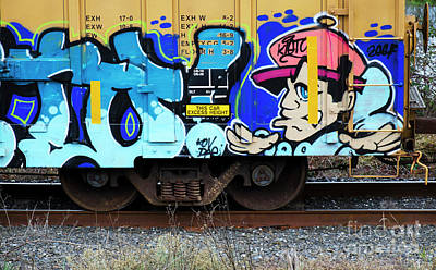 Spray Paint Can Photograph - Riding The Rails 17 by Bob Christopher