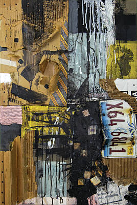 Cardboard Mixed Media - Riding The Rails by Jim Ford