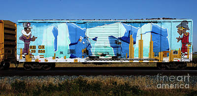 Photograph - Riding The Rails Train Graffiti 1 by Bob Christopher