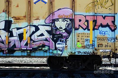 Photograph - Riding The Rails Train Graffiti 2 by Bob Christopher