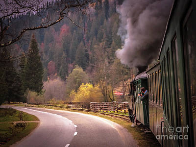 Photograph - Riding The Steam Train - Romania by Claudia M Photography