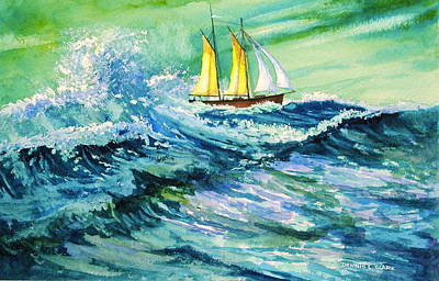 Painting - Riding the Storm by Dennis Clark