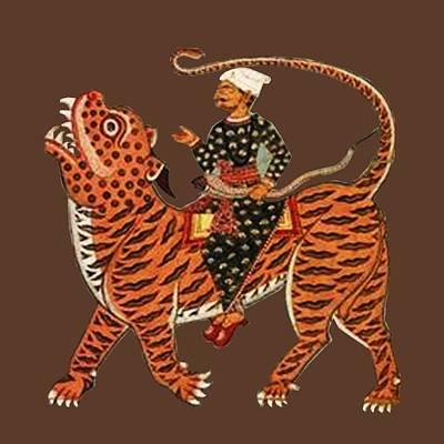 Mixed Media - Riding The Tiger by Asok Mukhopadhyay