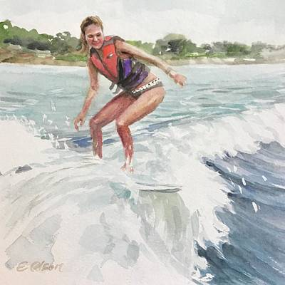 Painting - Riding The Wake by Emily Olson