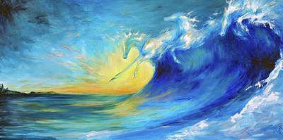 Painting - Riding The Waves by Dina Dargo