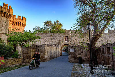 Photograph - Riding Through Old Town Rhodes, Greece by Global Light Photography - Nicole Leffer