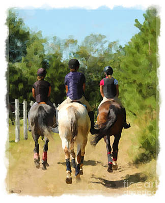 Photograph - Riding Trio by Life With Horses