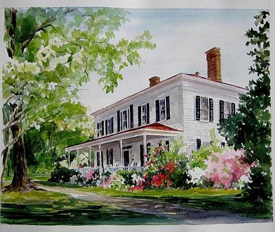 Art Print featuring the painting Ried-thurman-wannamaker Home by Gloria Turner