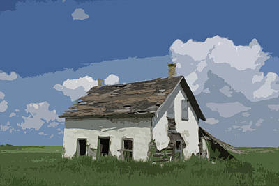 Photograph - Riel Period Homestead by Ellery Russell