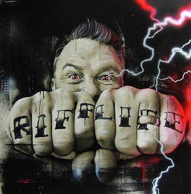 ' Riff Electric ' Art Print by Christian Chapman Art