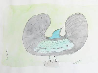Painting - Rifle Bird Of Paradise by Keshava Shukla