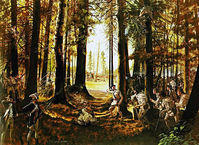 Saratoga Battlefield Painting - Riflemen At Saratoga by Mountain Dreams