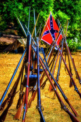 Photograph - Rifles Stacked At Camp  by Garry Gay