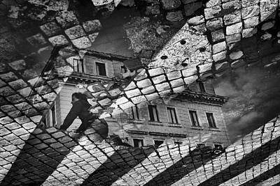 Puddle Photograph - Riflesso by Antonio Grambone