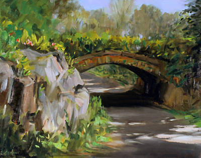 Painting - Riftstone Arch In Central Park by Robert Holden