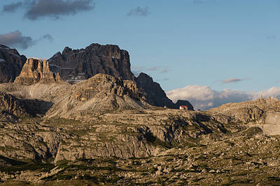 Photograph - Rifugio Lavaredo In The Distance In Dolomites Mountains, Italy, Europe by Blaz Gvajc