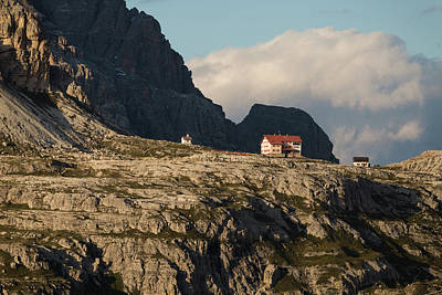 Photograph - Rifugio Lavaredo Near Tre Cime Di Lavaredo In Dolomites Mountains, Italy, Europe by Blaz Gvajc