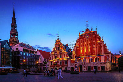 Photograph - Riga At Dusk by Andrew Matwijec