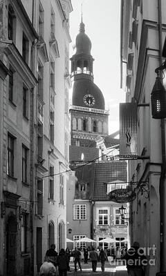Photograph - Riga Cathedral Monochrome by Rudi Prott