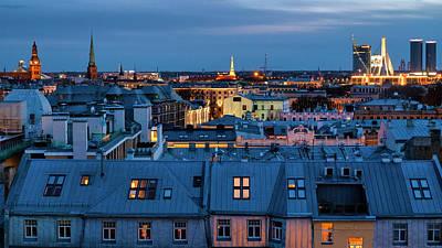 Photograph - Riga's Rooftops by Fabrizio Troiani