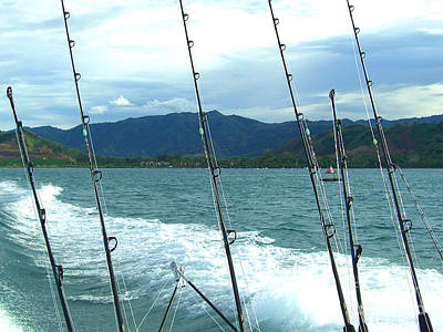 Photograph - Rigged For Fishing - Costa Rica by Merton Allen