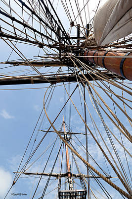 Photograph - Rigging Aboard The Hms Bounty by Michelle Wiarda-Constantine