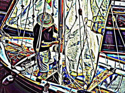 Rigging His Boat Art Print by Lainie Wrightson