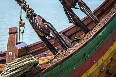 Photograph - Rigging On The Viking Ship by Dale Kincaid