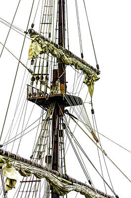Photograph - Riggings And Masts by Stewart Helberg
