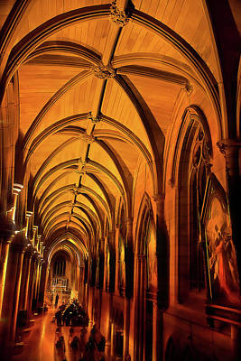 Photograph - Right Aisle Of St. Mary's by Miroslava Jurcik