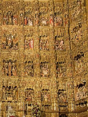 Right Half - The Golden Retablo Mayor - Cathedral Of Seville - Seville Spain Art Print