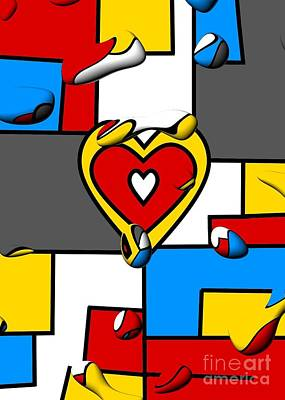Digital Art - Right In The Heart By Nico Bielow by Nico Bielow