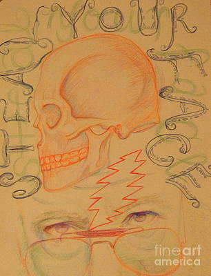 Right Off Your Head - Orange Art Print by Meg Goff
