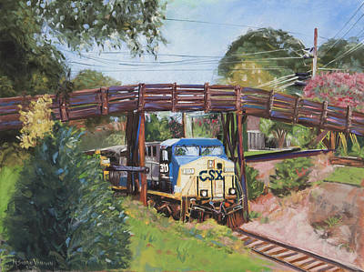 Right On Track Original by Mary Susan Vaughn