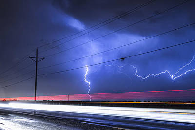 Lightening Photograph - Right Out Of The Power Lines by James BO  Insogna