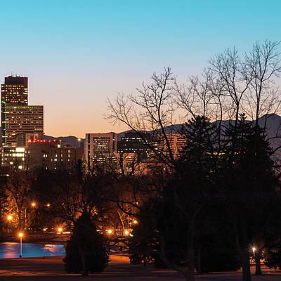 Denver Photograph - Right Panel 3 Of 3 - Denver Colorado Skyline Panoramic by Gregory Ballos