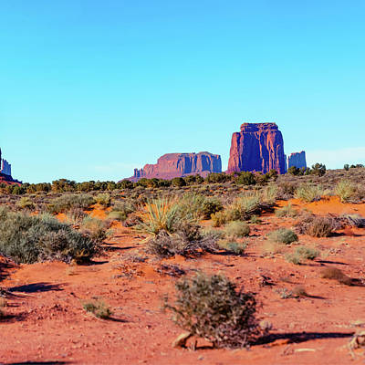 Photograph - Right Panel 3 Of 3 - Monument Valley Monolith Panorama Landscape - American Southwest by Gregory Ballos