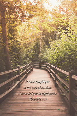 Photograph - Right Paths Proverbs 4 11 by Joann Copeland-Paul