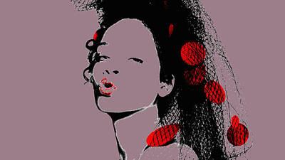Rihanna Mixed Media - Rihanna 17b by Brian Reaves